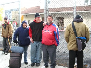 Homeless at St. Francis Inn, Kensington section of Phialdelphia. They were given new socks by The Joy of Sox