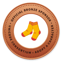 The Joy of Sox, a nonprofit providing new socks for the homeless, adopted the new socks emoji, and is an official bronze sponsor.