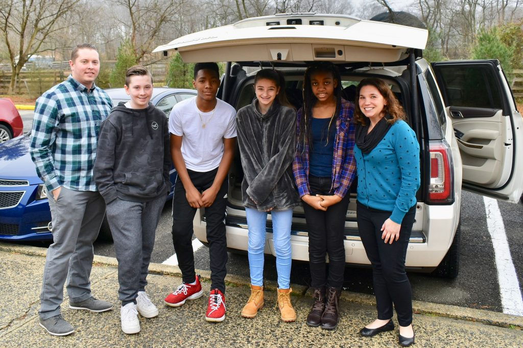 After the WORLD RECORD banner and certificate were presented some student loaded the new socks into a vehicle to be transported to The Joy of Sox warehouse. From there the socks will be separated into bags of men, women and children's socks. The sorted socks will then be distributed to shelters for those experiencing homelessness around Philadelphia and South Jersey.